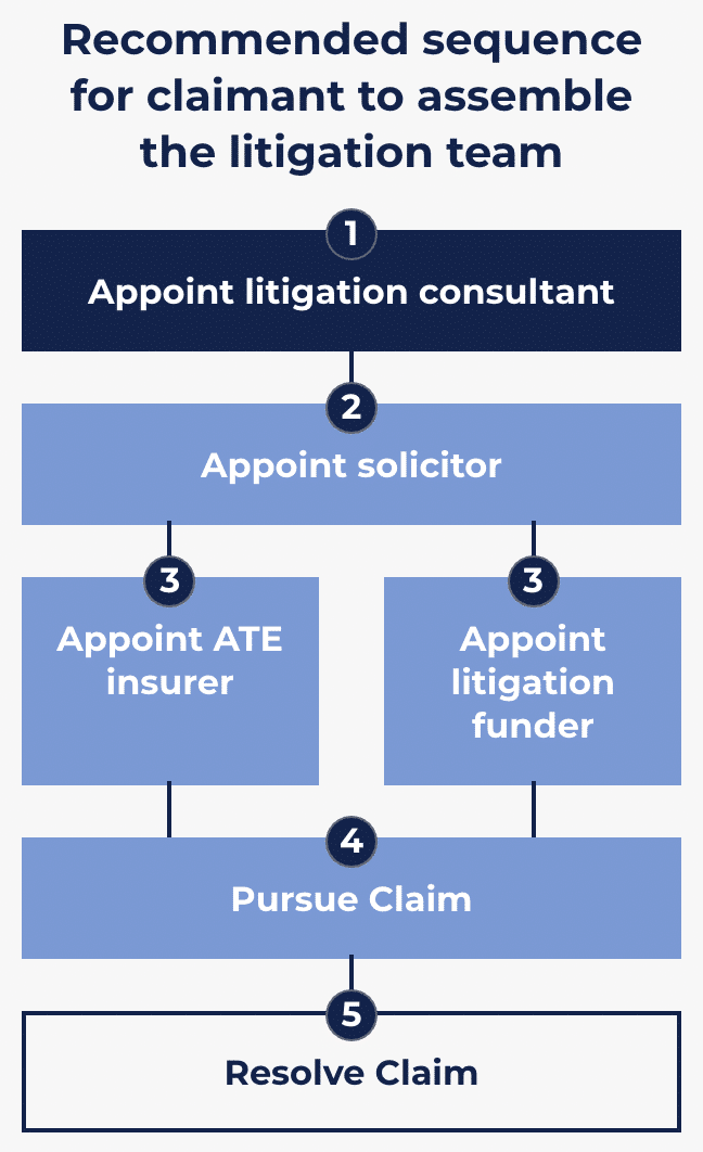 Image of the recommended claimant litigation process