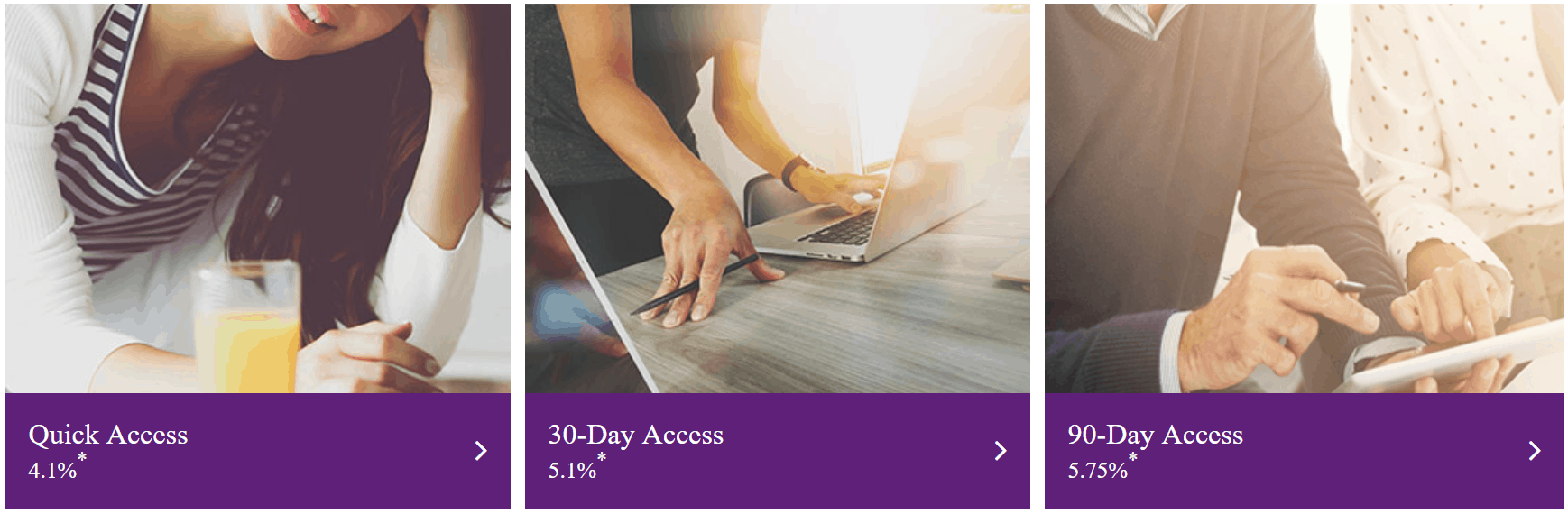 Image of the quick access accounts on Assetz Capital