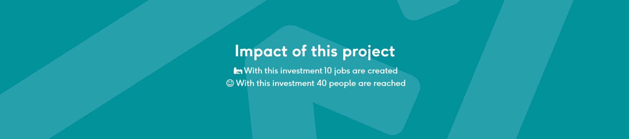 Example of social impact on a single loan at Lendahand